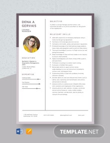 Lounge Manager Resume Template