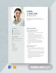 LPN Travel Nurse Resume Template
