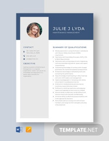 Maintenance Management Resume Template