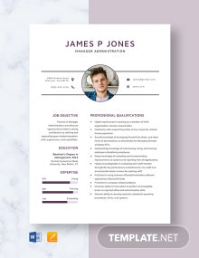 Manager Administration Resume Template