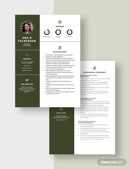 Mapping Technician Resume Download
