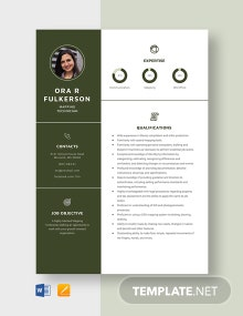 Mapping Technician Resume Template