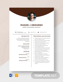 Market Development Specialist Resume Template