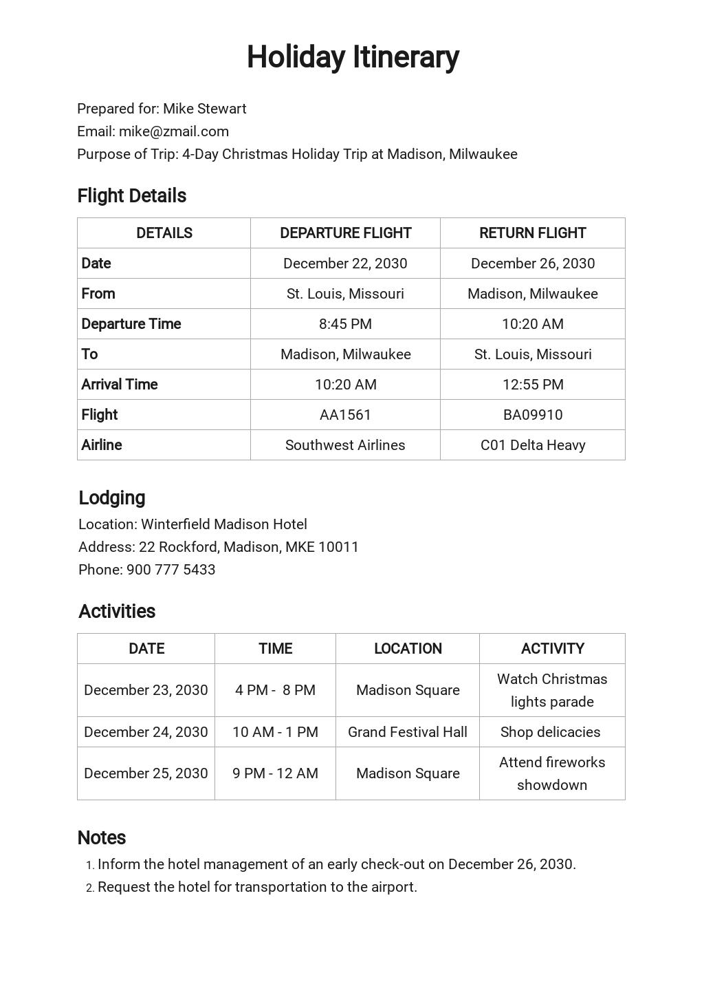 Free Holiday Itinerary Template.jpe