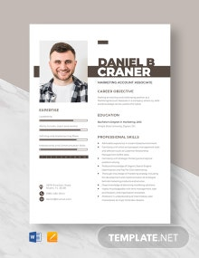 Marketing Account Associate Resume Template