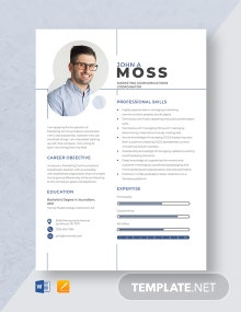 Marketing Communications Coordinator Resume Template