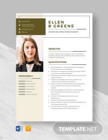 Marketing Operations Manager Resume Template
