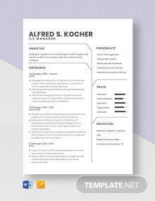 ILS Manager Resume Template