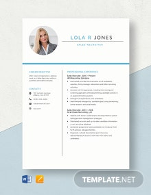 Sales Recruiter Resume Template