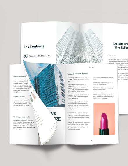 Business Profile Magazine Download