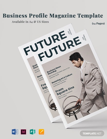 Business Profile Magazine Template