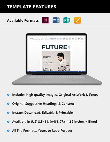 Editable Business Profile Magazine