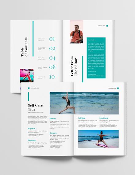 Editable Health Magazine Download