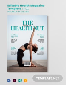 Editable Health Magazine Template