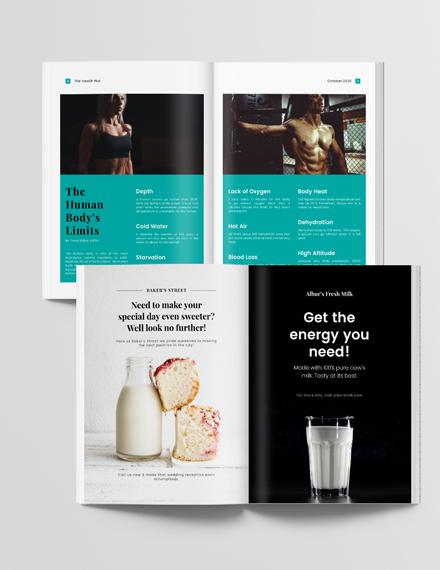 Simple Editable Health Magazine