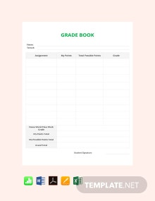 Free Simple Grade Sheet Template