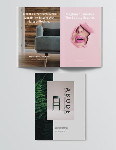 Customise Editable Interior Design Magazine