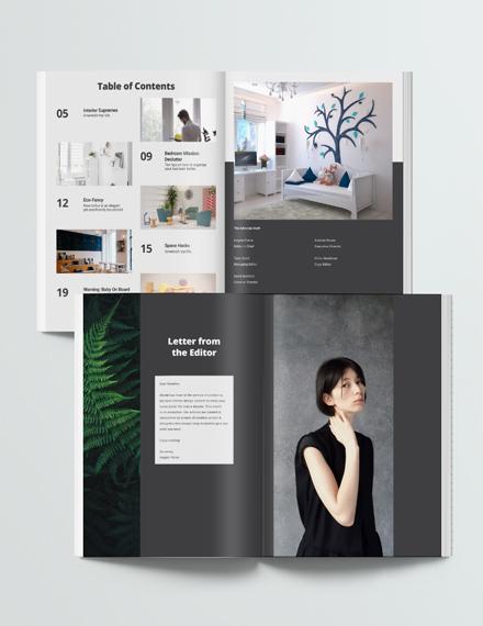Editable Interior Design Magazine Download