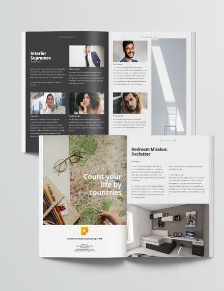 Sample Editable Interior Design Magazine