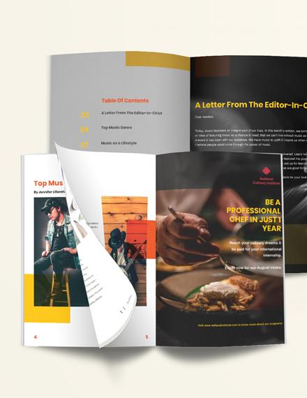 Editable Music Magazine Download