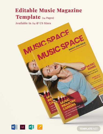 Editable Music Magazine Template