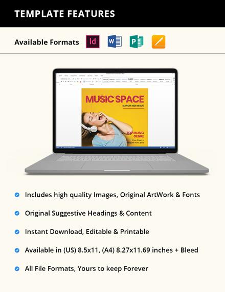 Editable Music Magazine