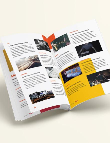 Sample Editable Music Magazine