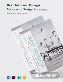 Best Interior Design Magazine Template