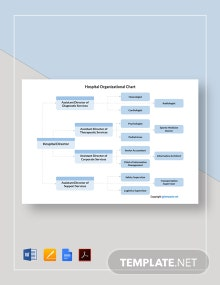 Free Simple Hospital Organizational Chart Template