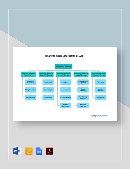 Free Hospital Organizational Chart Template