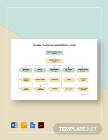 Free Complex Commercial Organizational Chart Template