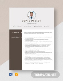 Science Educator Resume Template