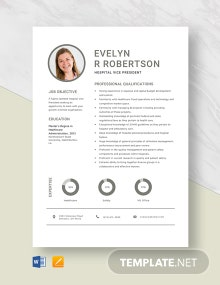 Hospital Vice President Resume Template