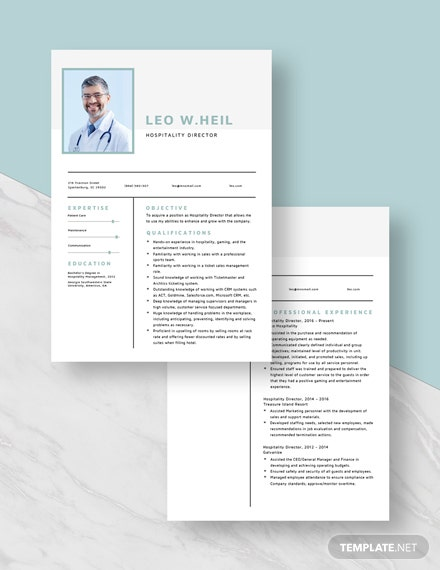 Hospitality Director Resume Download
