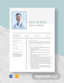 Hospitality Director Resume Template