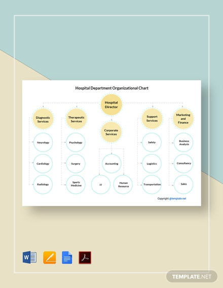 Free Hospital Department Organizational Chart Template