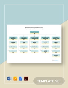 Free General Hospital Organizational Chart Template