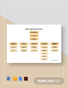 Free Sample Bank Organizational Chart Template