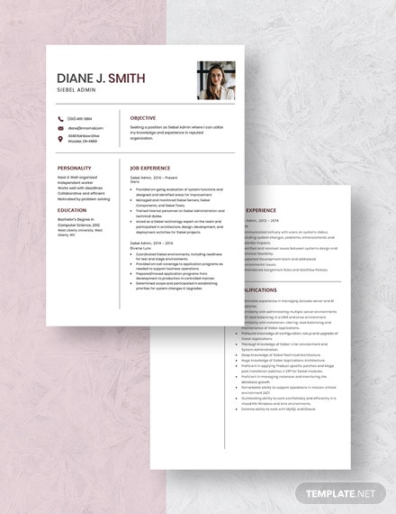 Siebel Admin Resume Download