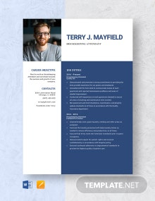 Housekeeping Attendant Resume Template