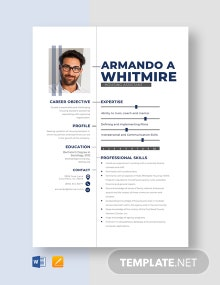 Housing Assistant Resume Template