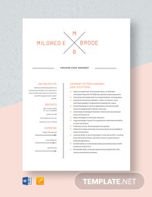 Housing Case Manager Resume Template