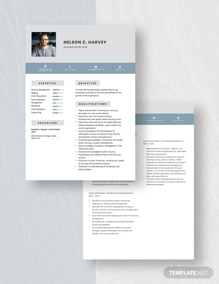 Housing Developer Resume Download