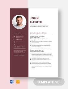 Journalism Instructor Resume Template