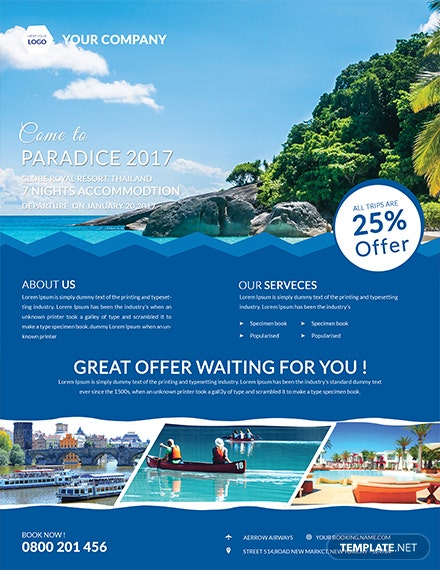 fresh travel flyer template 1x