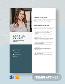 Landscaping Account Manager Resume Template