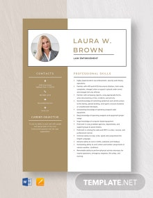 Law Enforcement Resume Template