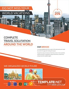 FREE Travel Service Flyer Template