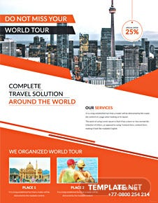Travel Service Flyer Template