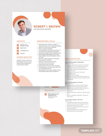 Law Firm Office Manager Resume Download